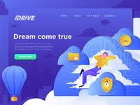 Cloud Saver Cloud Server Animation Header Concept By Permadi Satria Dewanto