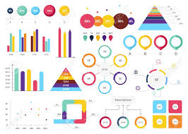 Useful Charts Set Of Most Useful Infographic Elements Bar Graphs Pie Charts