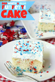 red white blue funfetti cake a simple diy funfetti cake made with a box