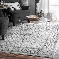 traditional vintage tribal diamond trellis area rug gray contemporary area rugs by nuloom