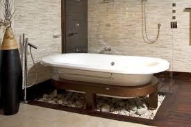 Hardwood Floor Bathroom Bathroom Bathroom Interior White Acrylic Tub With Clear Acrylic