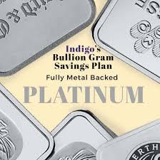 Platinum Live Chart Indigo S Bullion Gram Savings Plan Platinum Full Metal Allocation