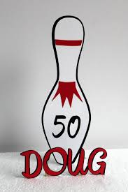 Bowling Pin Cake Decorations Bowling Cake Topper Personalized 100th birthday decoration 47