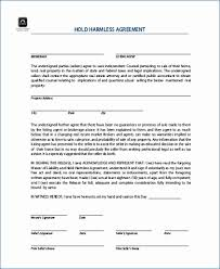 Sample Subcontractor Agreement Awesome Hold Harmless Agreement Template Free Best Of 44 Subcontractor