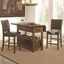 kitchen island table with chairs. Simple Kitchen Salerno 3 Piece Counter Height Kitchen Island In Wire Brushed Amber Within  Table Idea 9 And With Chairs