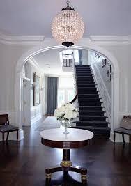 SB Long Interiors - entrances/foyers - crown molding, foyer table, pedestal  foyer