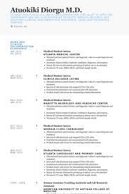 Sample Medical Student Resume - April.onthemarch.co