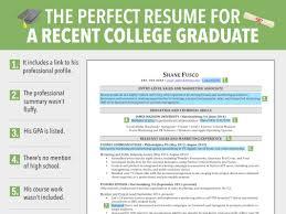 Recent College Graduate Resume Nardellidesign Com