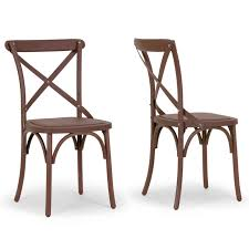 Aleah Outdoor/Indoor Cross Back Dining Chair (Set of 2) Shop - On