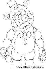 Fnaf Coloring Pages Golden Freddy Sheets Five Nights At 2 Sister