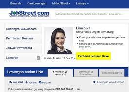Job Street Resume Format Sample Resume Cover Letter Format