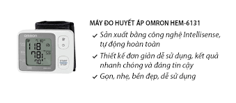 Kết quả hình ảnh cho Máy đo huyết áp omron 6131