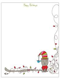 Christmas Note Template Free Christmas Letter Templates Templates School Ideas