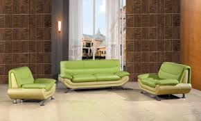 Two Tone Living Room Furniture Living Room Decorated With Green Sofa Traditional Living Room