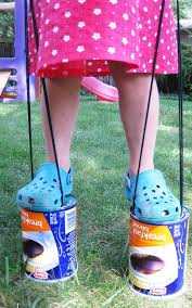 diy kids crafts for outdoors fun diy upcycled can stilts diy projects crafts