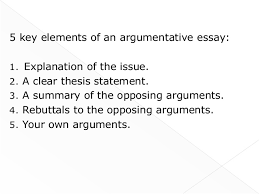 argumentative essays writing 7