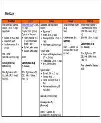 diabetic menu planner 11 menu planner samples templates free word excel pdf format