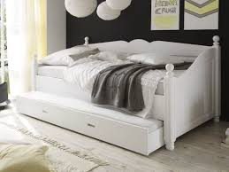 Bedroom White Daybed With Pop Up Trundle Metal Wood Wicker ...