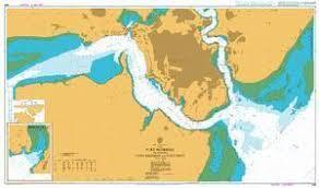 British Admiralty Nautical Chart 666 Africa East Coast Kenya Port Mombasa Including Port Kilindini And Port Reitz