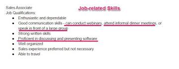 Different Types Of Skills For Resumes 99 Key Skills For A Resume Best List Of Examples For All Types Of Jobs