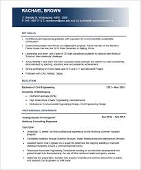 Proffesional Civil Engineer Resume PDF Free Download