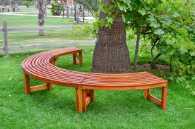 Miramar Half Circle Tree Bench - ForeverRedwood