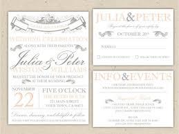 Wedding Invitation Layouts Free Vintage Wedding Invitation Templates