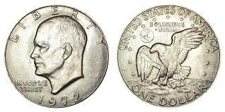 1972 Eisenhower Silver Dollar Value Chart 1972 Eisenhower Dollar Type 1 Low Relief Reverse Coin