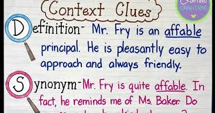 Types Of Context Clues Chart Context Clues Anchor Chart Freebie Included Crafting