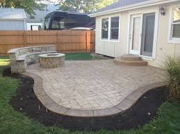 Backyard Concrete Designs Beauteous EXACTLY What I Want Concrete Patio With Fire Pit And Sitting Wall