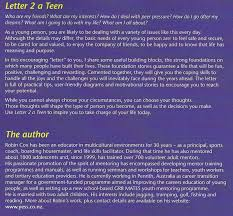 Letter of encouragement to teen