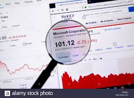 Yahoo Charts Montreal Canada June 22 2018 Microsoft Msft Ticker With