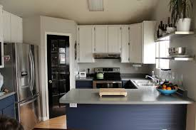 Eggshell Kitchen Cabinets Navy Painted Base Cabinets Chris Loves Julia