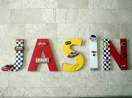 Personalized Bedroom Decor Nascar Race Car Wall Letters Custom Letters Auto Racing Boys