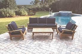 deep seating patio sofa teak outdoor