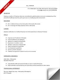 Physician Resume Sample Best Professional Resumes Letters