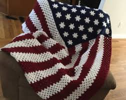 American Flag Crochet Pattern Adorable PATTERN ONLY American Flag C48C Crochet Blanket Pattern