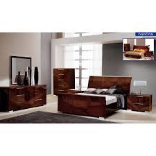 Mirror Bedroom Set Capri Bedroom Set Bed 2 Nighstands Dresser And Mirror Modern