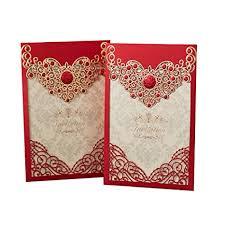 Amazoncom Ponatia 25pcs Laser Cut Invitations Cards Luxury Diamond
