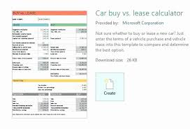 car leases calculator car lease calculator spreadsheet best of car lease vs buy