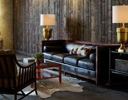 archetype furniture. archetype wood banded sofa leather baker furniture