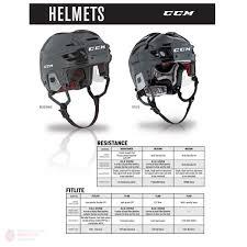 Bauer Helmet Size Chart Ccm Fitlite 40 Hockey Helmet Cage Combo