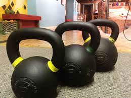 kettlebell cleans training for rock