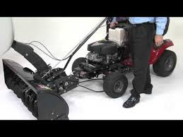attaching snow thrower to tractor you