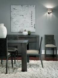 grey hues in a dining room