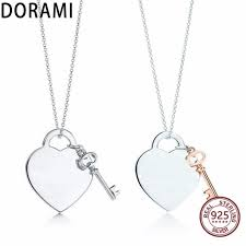 2019 dorami big heart lock pendant necklace women real 100 sterling silver pingente design simples para as mulheres jewelry from fenkbao 25 52 dhgate