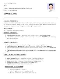Format Of A Simple Resume Word Resume Formats Simple Resume Format