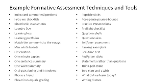 Different Examples Of Formative Assessment - Resume Template