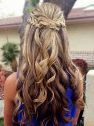 Curly Hair Style Up promhairstylesformediumhairhalfuphalfdownpromhairdosfor 6257 by wearticles.com