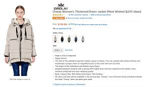 Orolay Women S Thickened Down Jacket Size Chart Affiliate Links And Antitrust